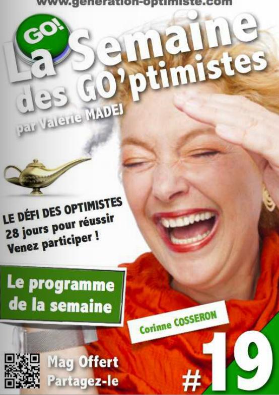 Corinne Cosseron en couverture de La Semaine des Optimistes