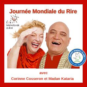 Dr Madan Kataria  Corinne Cosseron yoga du rire en France  ! Journée Mondiale du Rire 2 Mai 2021