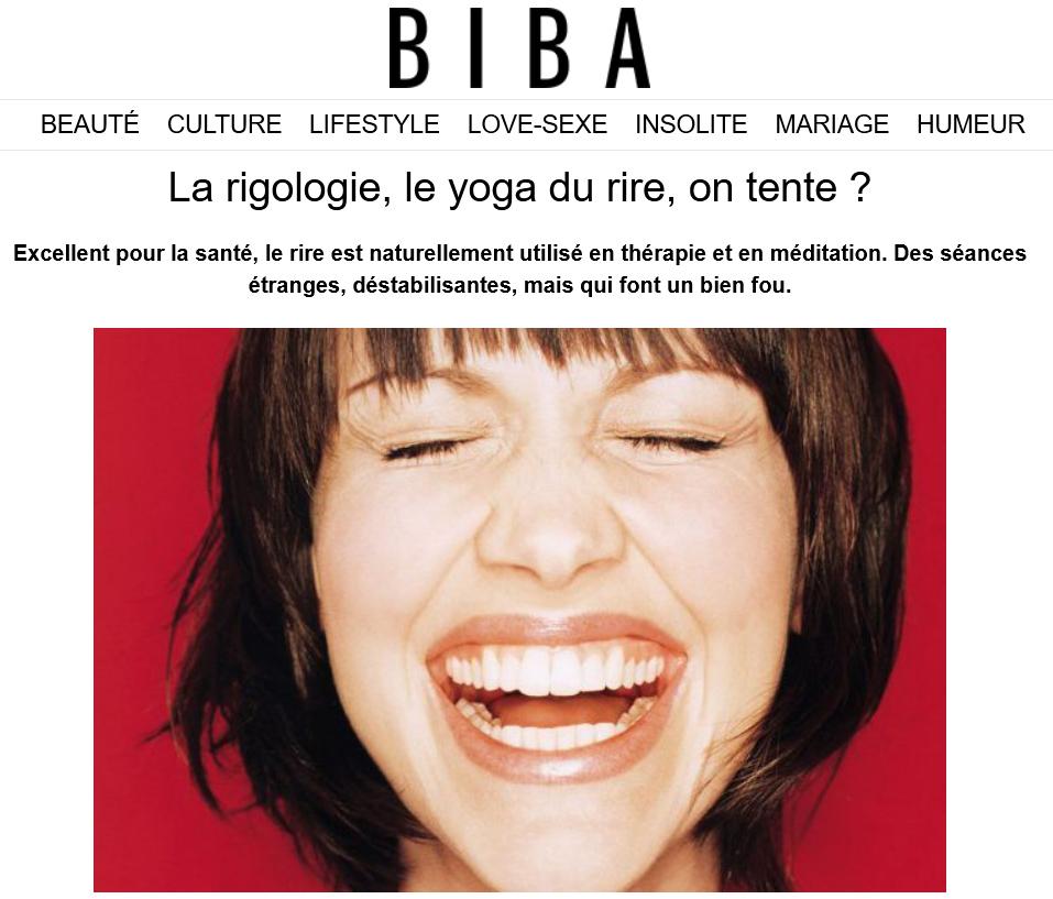 La rigologie, le yoga du rire on tente. Biba. L'Ecole Internationale du Rire
