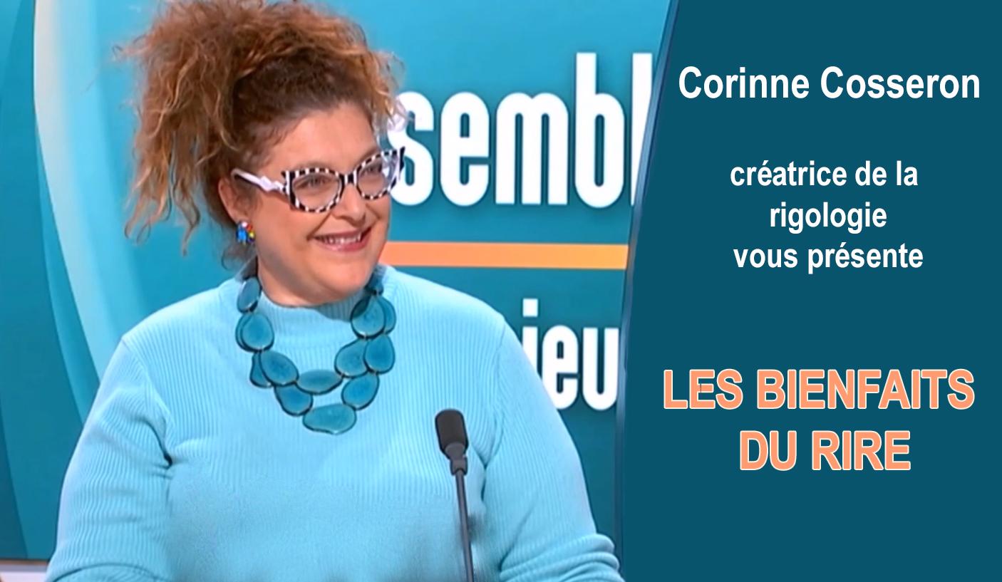 Corinne Cosseron  présente les bienfaits du rire