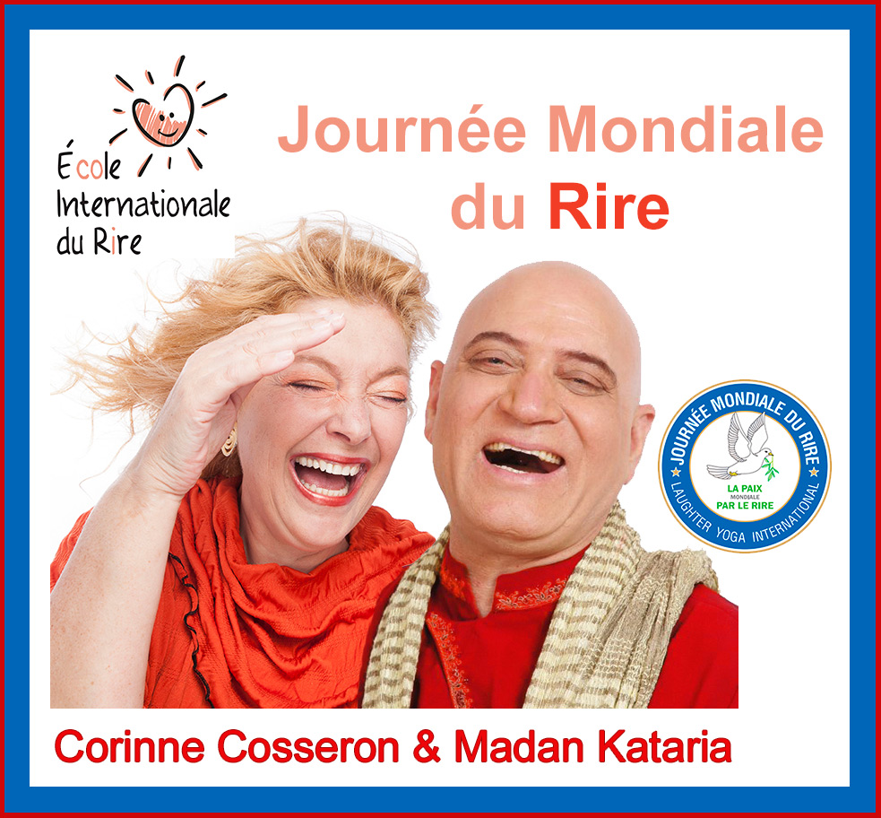 Dr Madan Kataria Corinne Cosseron World Laughter Day France Laughter Yoga