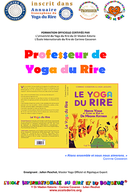 Manuel officiel de formation de professeurs de yoga du rire du Dr Madan Kataria de l'Ecole Internationale du Rire