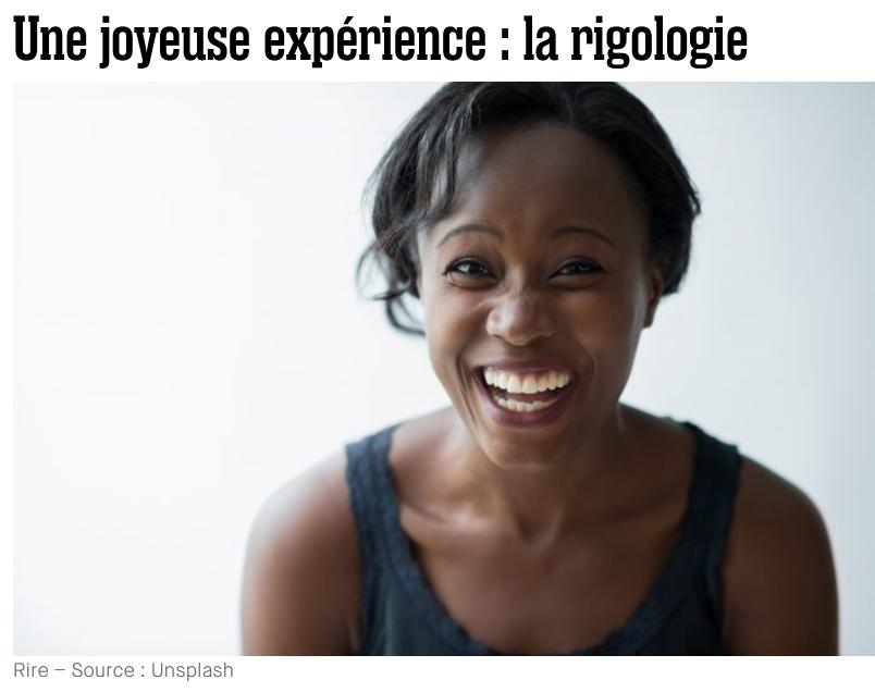 Une joyeuse expérience : la rigologie