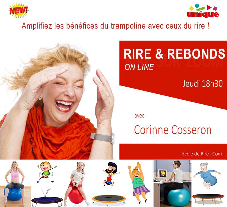 rire et rebonds en  ligne avec Corinne Cosseron