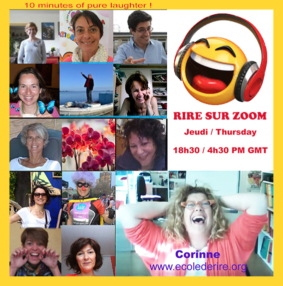 Rire sur Zomm Skype Laughter Club Corinne Cosseron France