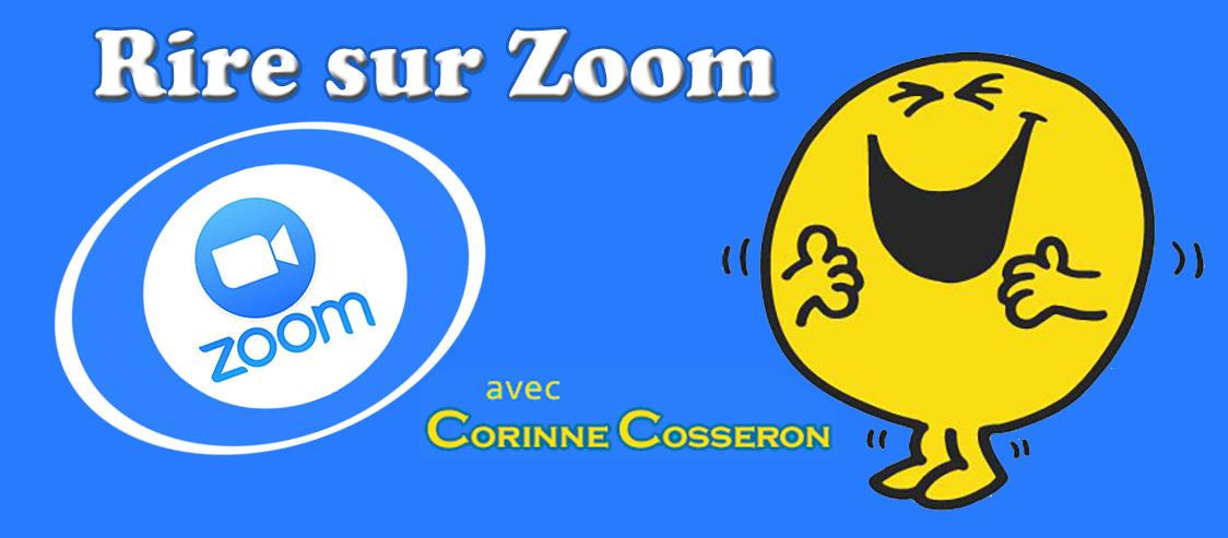 Rire sur Zoom Skype Laughter club Corinne Cosseron France