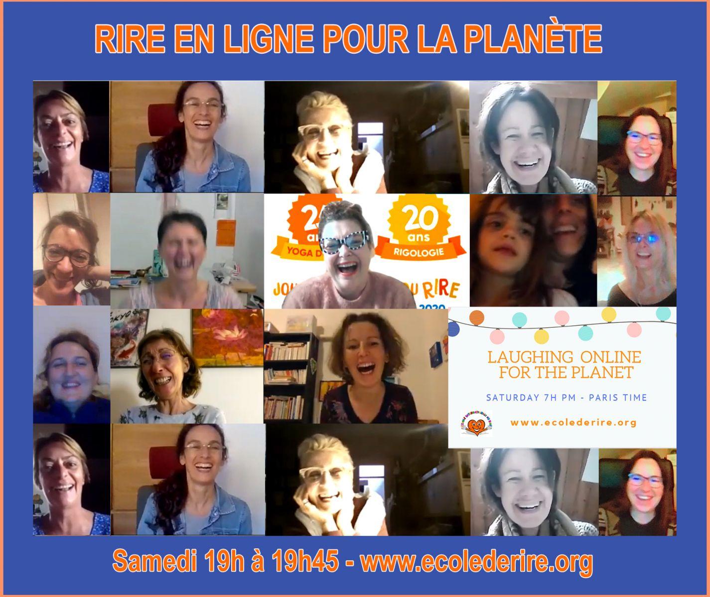 Rire pour la planète Laughter party on line Rire pour les soignants pendant le confinement Covid 19 2020