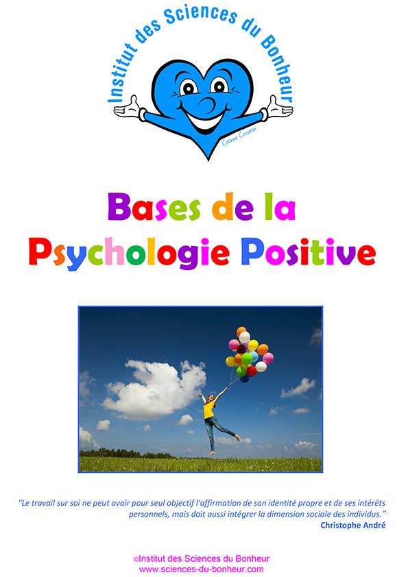 Manuel de formation Les bases de la psychologie positive de l'Institut des Sciences du Bonheur