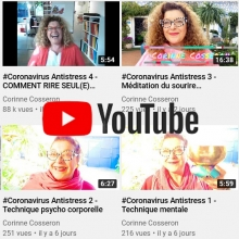 COVID-19 - Techniques antistress sur Youtube